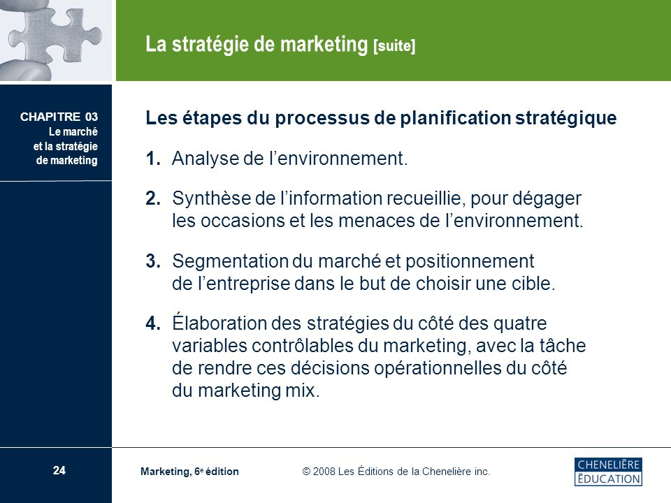 La stratégie de marketing [suite]